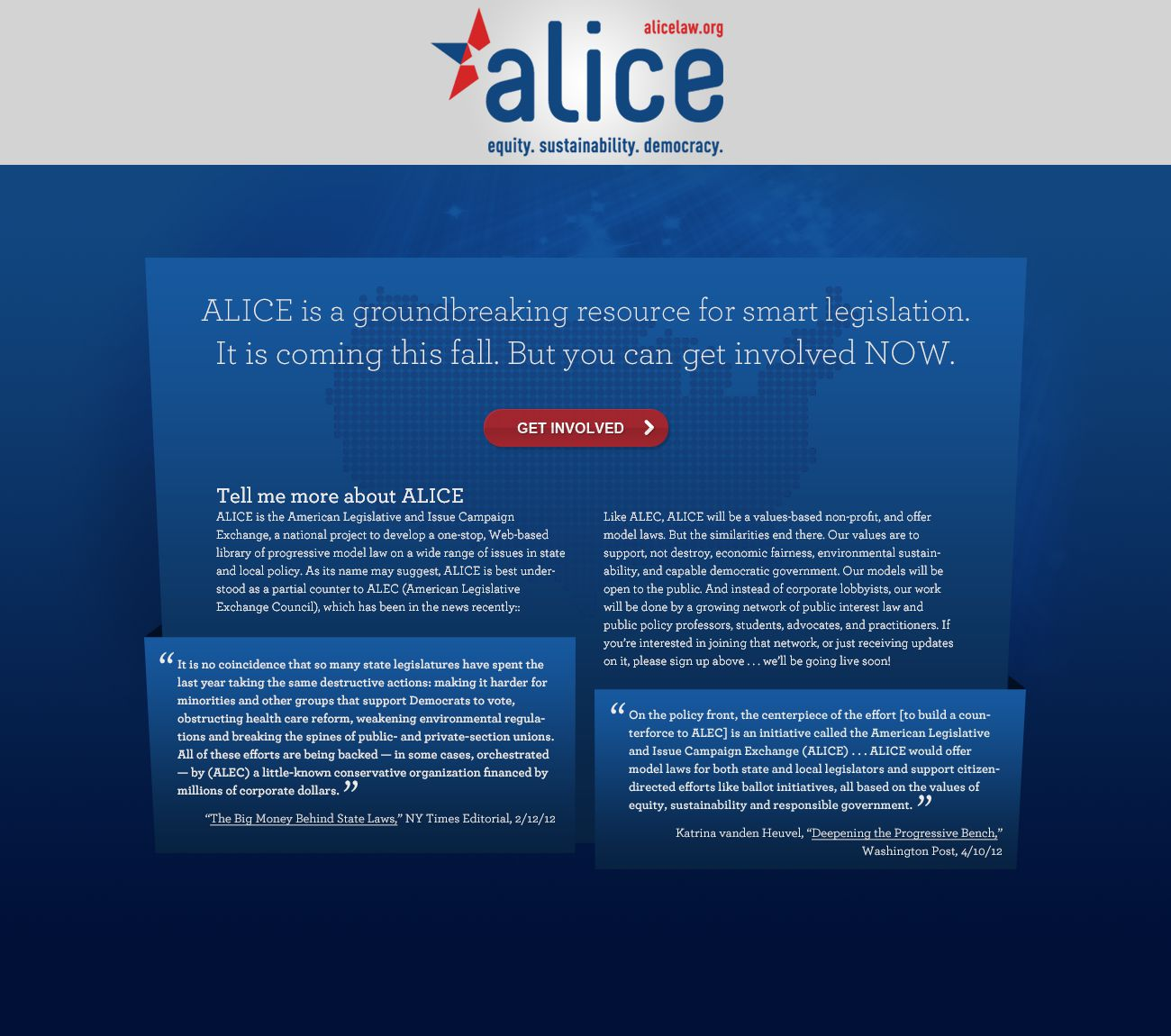 ALICE: Preview Web Site
