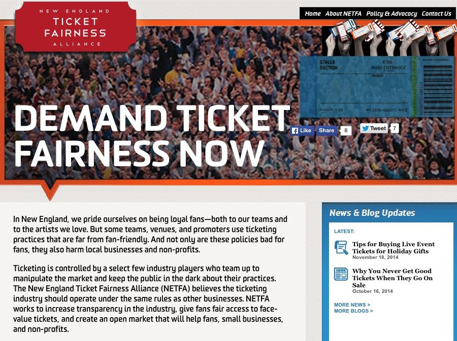 Ticket Fairness: Online Campaign